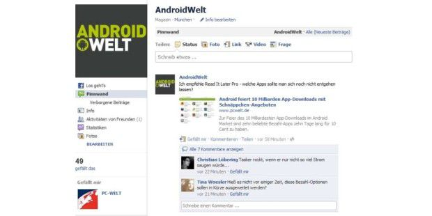 AndroidWelt auf Facebook