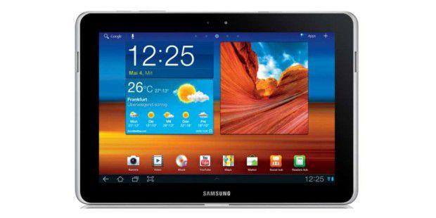 Das Samsung Galaxy Tab 10.1, hier in der N-Ausführung, das Apple mittlerweile ebenfalls stoppen will. In Deutschland.entscheidet darüber am 22.12. ein Gericht.