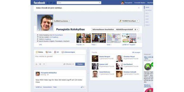 Facebook Timeline startet in Deutschland