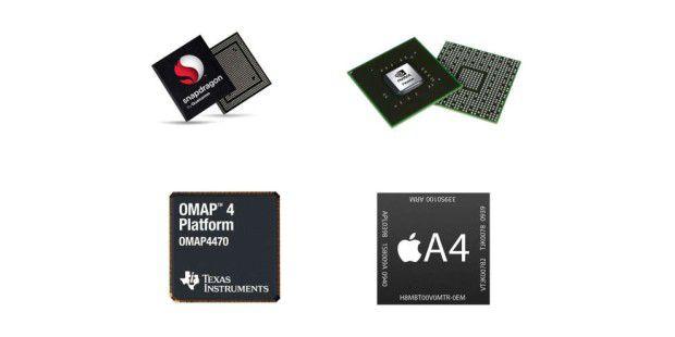 Mit der ARM-Lizenz kocht jeder sein eigenes Süppchen: Chips verschiedener Hersteller mit ARM-Kern.