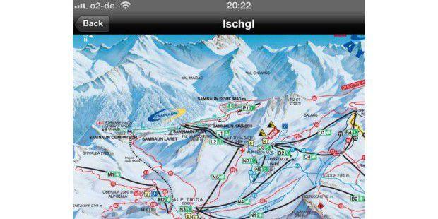 Die besten Ski-Apps für iPhone, Android & Blackberry (hier: iTrailMa