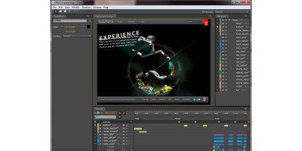 Mit Adobe Edge erstellen Sie interaktive Web-Inhalte mitHTML5, Javascript und CSS3.