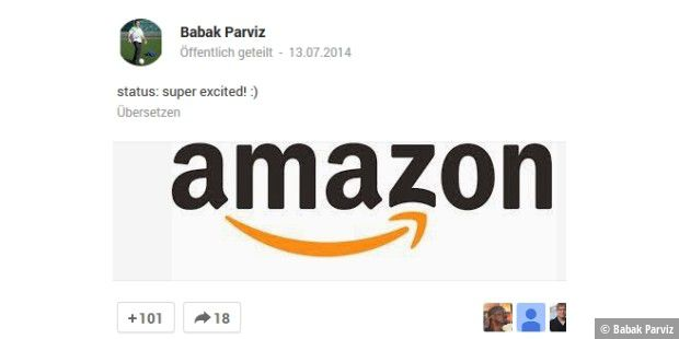 Google-Glass-Miterfinder Babak Parviz wechselt zu Amazon