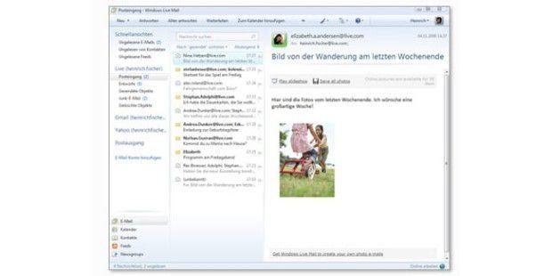 Windows Live Mail 2009 ist der Nachfolger von Outlook.
