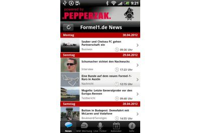 "Android-App ""Formel1.de"""