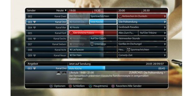 Die EPG in PlayTV