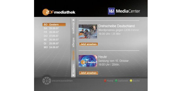 ZDF-Mediathek auf der Fritzmedia