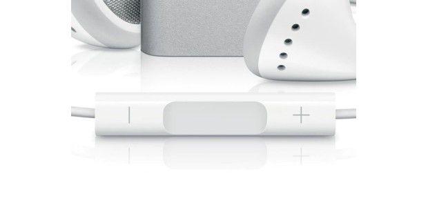 Zentrales Bedienelement: Über einen Dreifach-Taster wirdder Shuffle gesteuert.