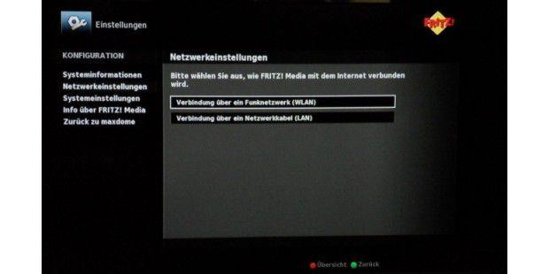 Netzwerk-Konfiguration der FritzMedia 8260