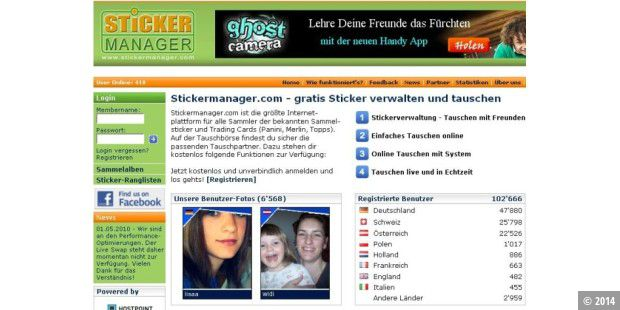 Stickermanager.com: 100.000 mögliche Tauschpartner