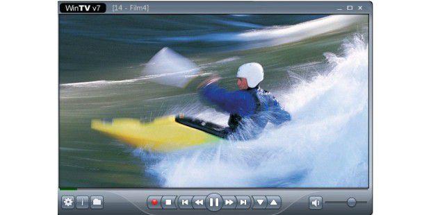Die mitgelieferte WinTV-v7-Software