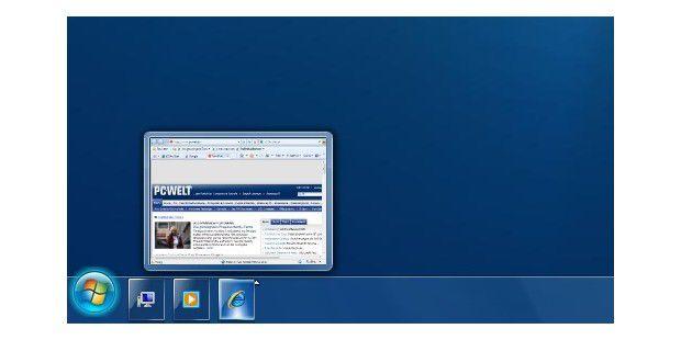 Die Taskleiste von Vista sieht fast wie die von Windows 7aus