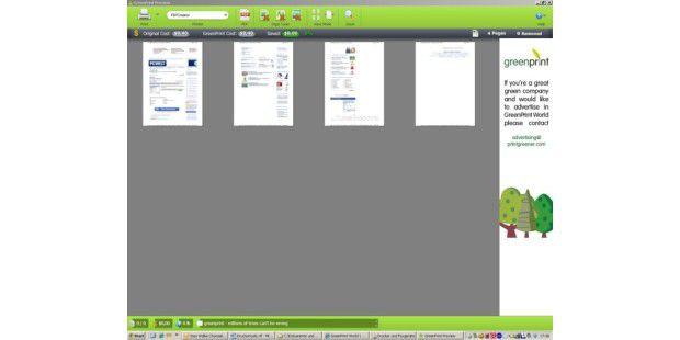 Druckauftrag im Blick mit Greenprint World 2.0.3
