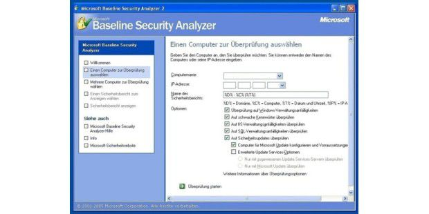 Der Microsoft Baseline Security Analyzer