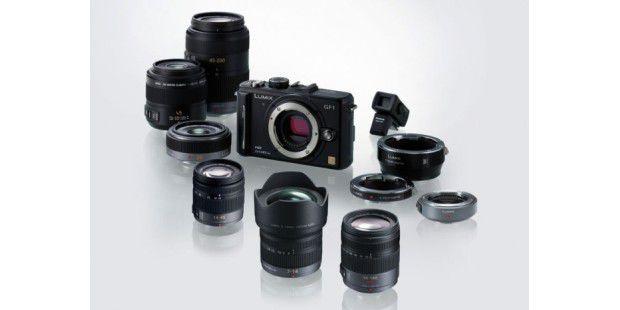 Panasonic DMC-GF1 mit Objektiven