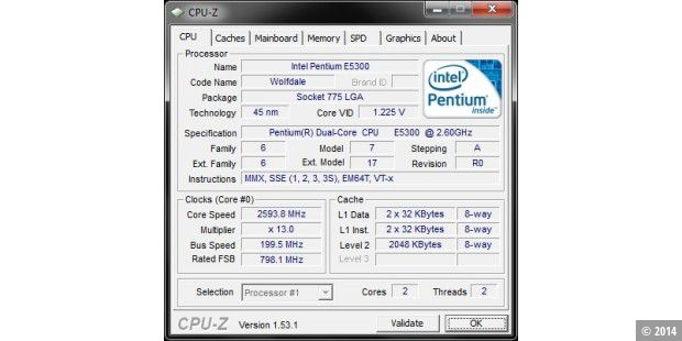 Dell Inspiron One 19 Touch: CPU
