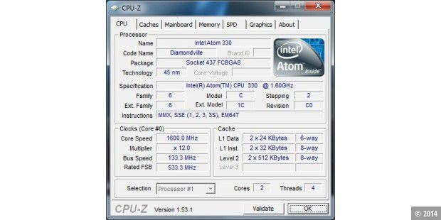 Arlt Mediabox 7 Intel Atom N330: CPU
