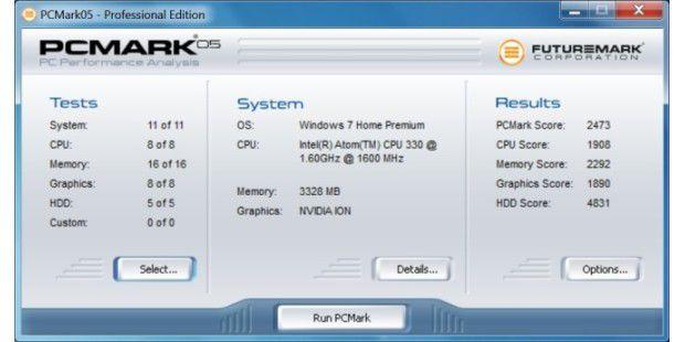 Nexoc Nettop ION 330: PC Mark 05 Ergebnis