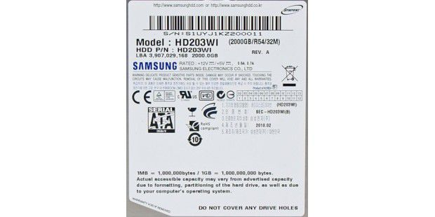 Samsung Spinpoint F3 Ecogreen HD203WI