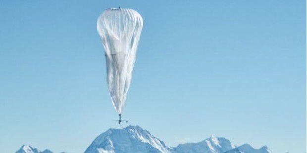 Bastelt Google im Geheim-Labor X an einem Mondaufzug? Auch mit Project Loon (Bild) will Google hoch hinaus.