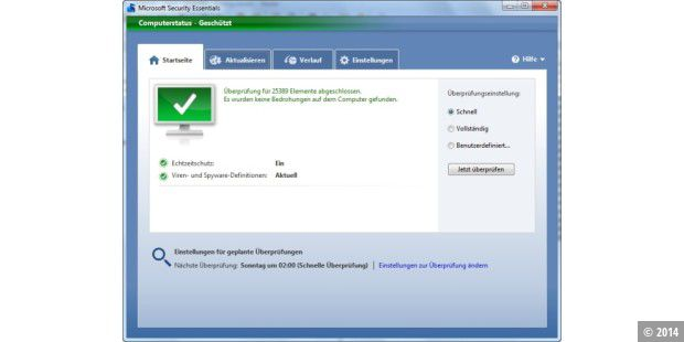 MSE unter Windows 7