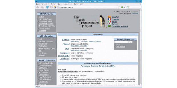 Linux Documentation Projekt: Unter www.tldp.org gibt's Anleitungen zu vielen speziefischen Themen rund um Linux
