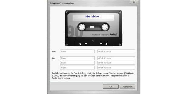Radio.fx-Aufnahmen an Freunde schicken