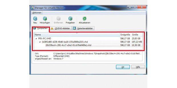 vhd datei in virtualbox einbinden Hier ein neues projekt von mir :-) es wird eine virtuelle vhd (festplatte) automatisch in windows 7 64 bit durch eine reg datei mit einem festenlaufwerksbuc.