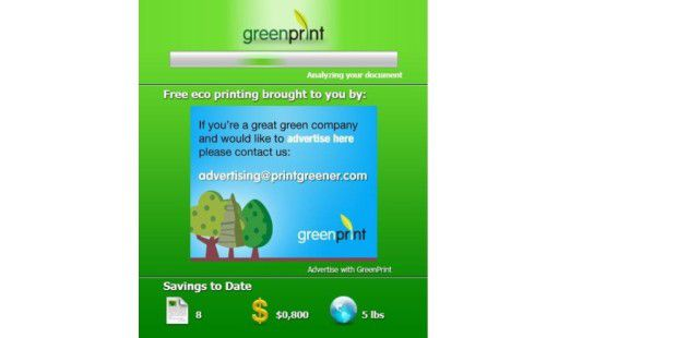 Zeigt die Ersparnis an: Greenprint World 2.0.3