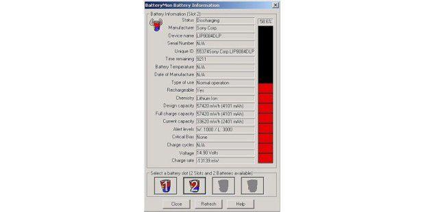 BatteryMon: Akku-Infos.