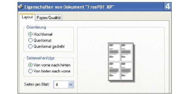 Mit FreePDF XP brauchen Sie bis zu 75 Prozent wenigerPapier