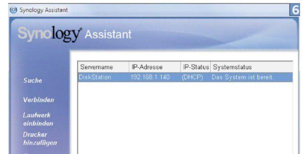 Mit der mitgelieferten Software ist der Zugriff auf denNAS ganz einfach