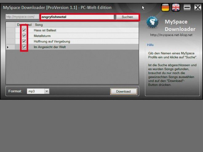 Myspace Haken Website