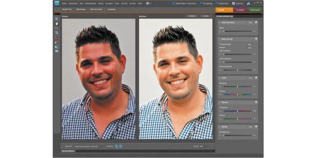 Schon mit der 1-Klick-Optimierung erstrahlen vormalsblasse und kontrastarme Bilder in neuem Glanz.