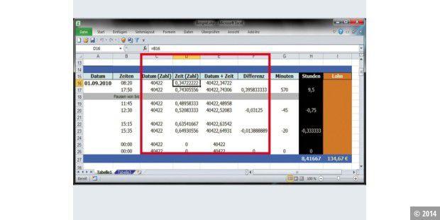 Excel Xp 2003 2007 2010 Mit Datumsangaben Und Uhrzeiten