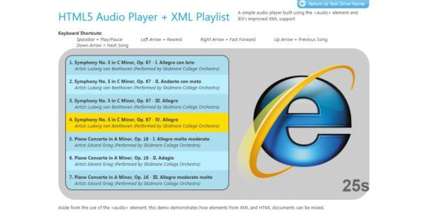 HTML5 in Internet Explorer 9
