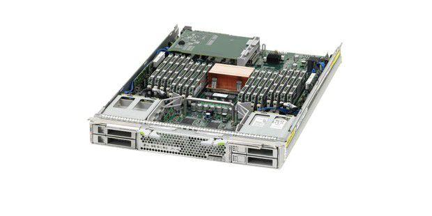 Nach wie vor beliebt: In Oracles Blade Sun T6320 steckteine Sparc-CPU. Oracle will an den von Sun übernommenen Prozessorenauch in Zukunft festhalten.