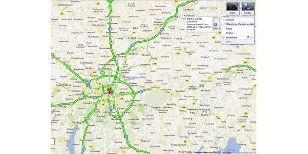 Google Maps zeigt alle Straßen in grüner Farbe - freieFahrt