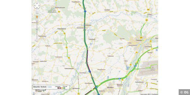 Verkehrslage Bei Google Maps Pc Welt