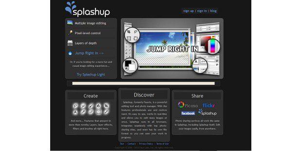 """Bilder laden Sie über den auf der Webseite angezeigtenLink """"Jump Right In""""."""