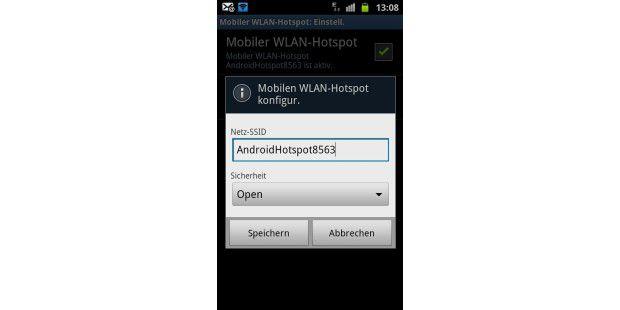 Mobilen WLAN-Hotspot konfigurieren.