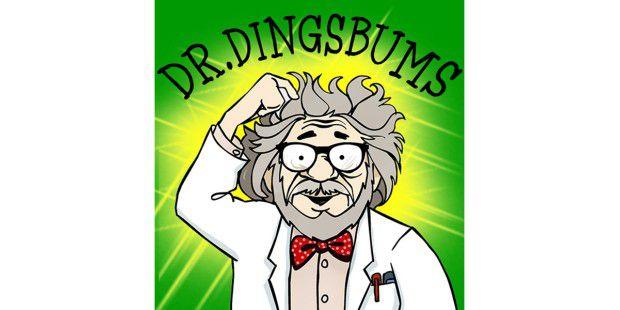 Dr. Dingsbumms ist total zerstreut - trotzdem könnenkleine Kinder viel mit ihm lernen.