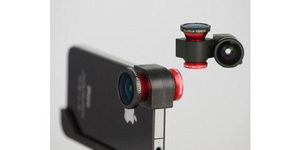Mehr Möglichkeiten: Der Olloclip erweitert die Funktionender iPhone Kamera um drei zusätzliche Modi.