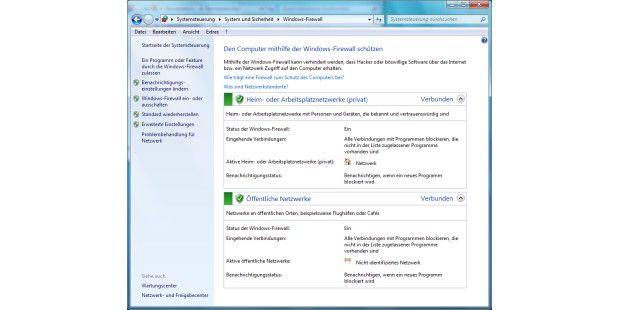 Die Windows Firewall überwacht den ein- und ausgehendenDatenverkehrs des Rechners.