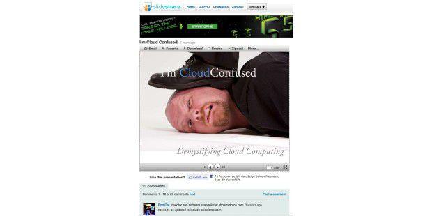Slideshare-Präsentation auf Webseite