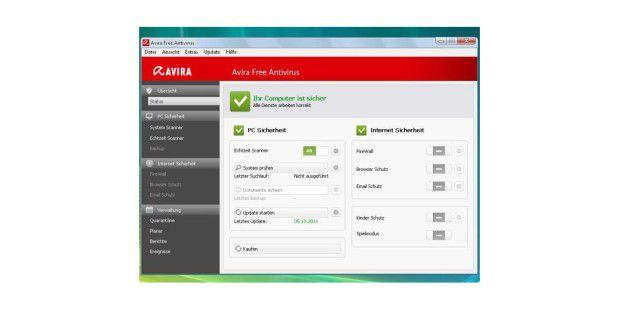 Avira Free Antivirus bietet einen sehr gutenVirenrundumschutz