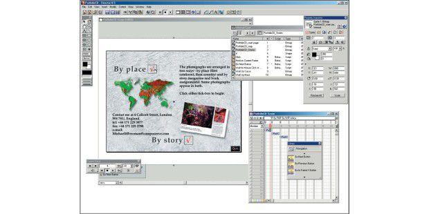 Der logische (und interaktive) Ablauf im Directorvereinfacht die Gestaltung komplexer Multimedia-CDs. Hierverzweigen Sie über ein Menü auf der Startseite zu den jeweiligenUnterseiten des Projekts. Achten Sie auf eine einfache Navigation,damit auch ungeübte Benutzer sich auf Ihrer CDzurechtfinden.