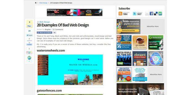 web design fehltritte pc welt. Black Bedroom Furniture Sets. Home Design Ideas