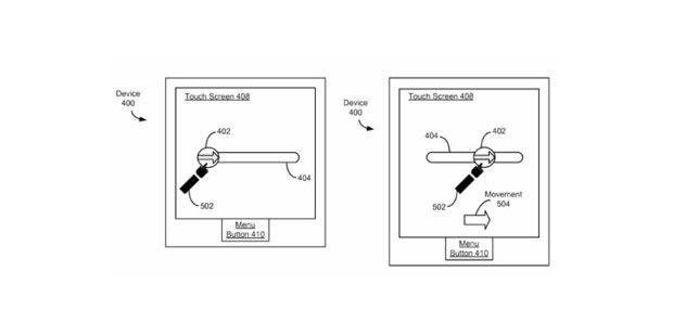Skizze aus dem Patentantrag von Apple