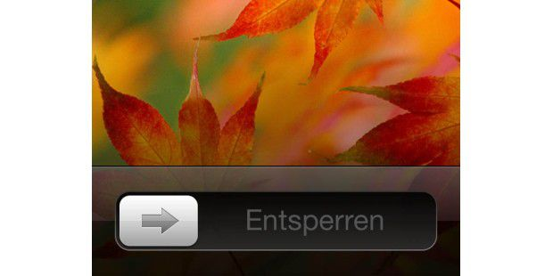 Slide To Unlock Screen eines Apple iPhones